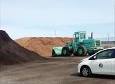 バイオマス材料保管の写真を紹介